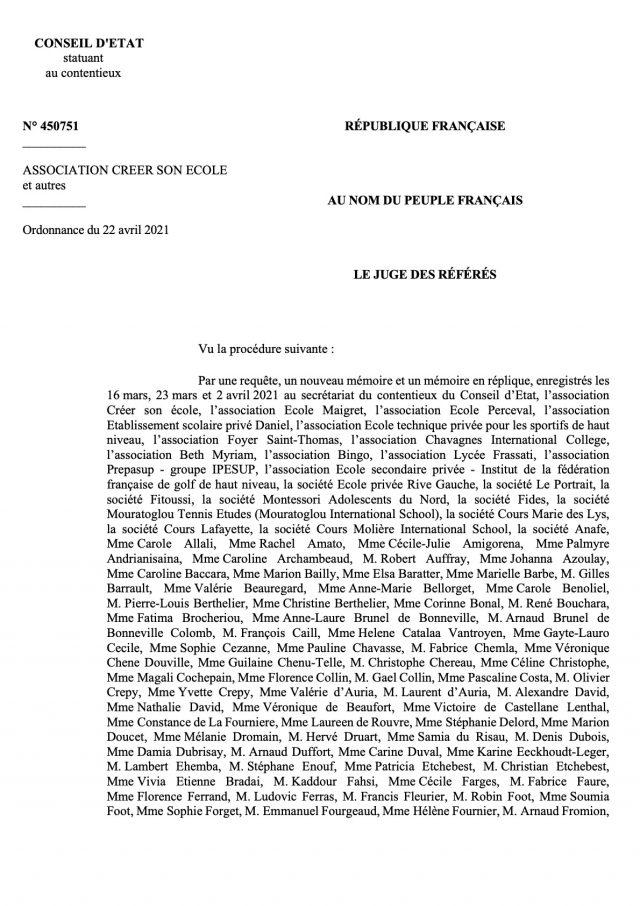#Bac2021 - Le Conseil d'Etat rejette la requête des lycéens du hors-contrat